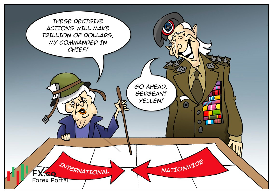 Janet Yellen mengusulkan kenaikan pajak untuk membayar rencana stimulus