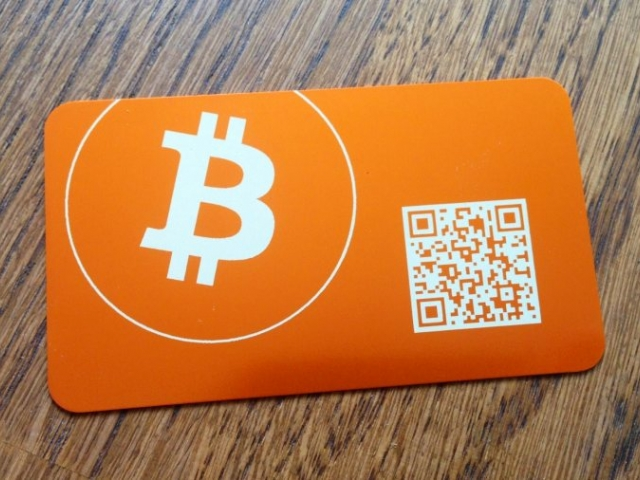bitcoin plastic card)