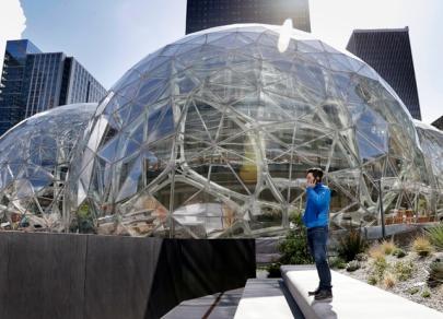 Incroyable architecture de bureau d'Amazon