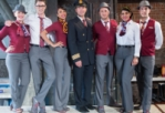 Flight attendant uniform of different airlines