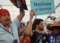 Bernie Sanders' supporters protest