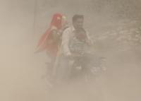 Luftverschmutzungsindex in Delhi ziemlich hoch