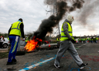 People take to streets in France in protest at Macron's labour law reforms