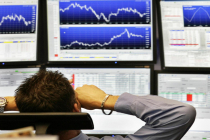 Bursa Saham Eropa ditutup lebih rendah seiring penurunan saham Bank